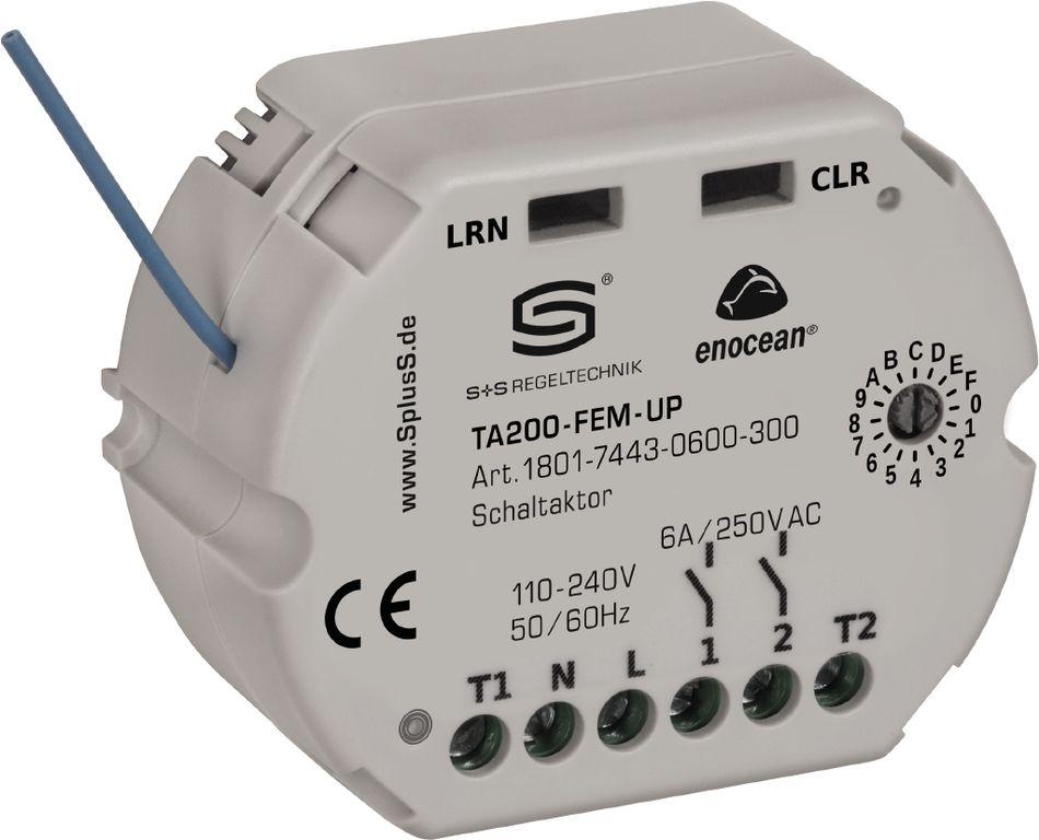 TA200-FEM-UP Récepteur radio EnOcean, actionneur de thermostat à 2 canaux