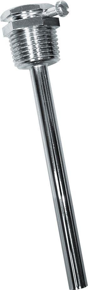 THR-ms-08-200mm Doigt de gant 200mm en laiton nickelé  pour thermostat à plongeur à 1 étage 'ETR'