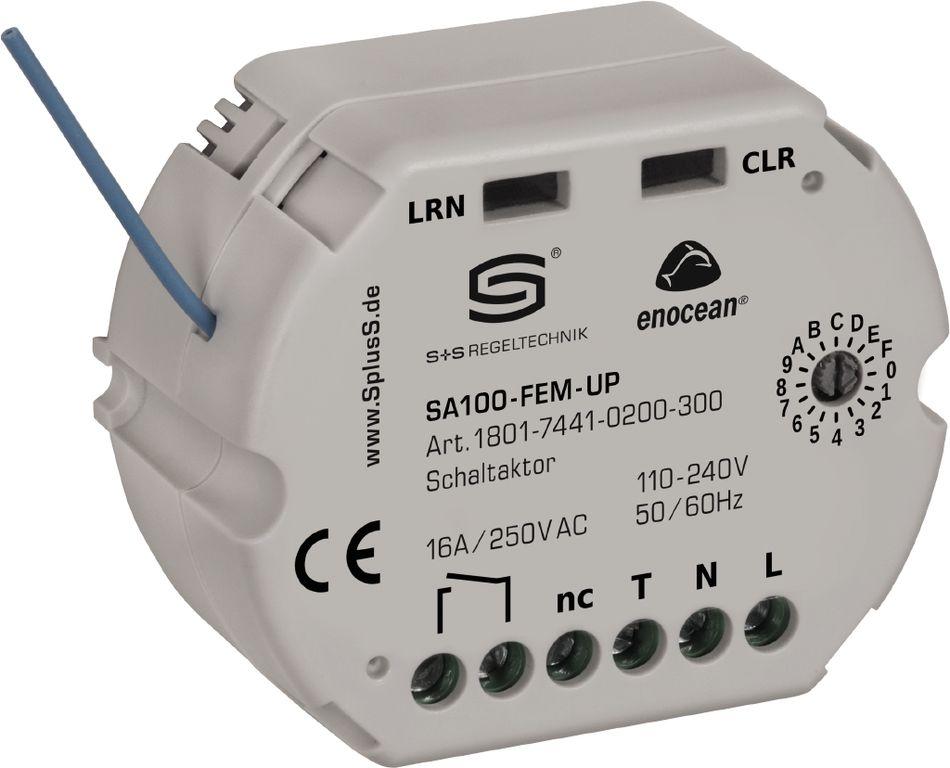 SA100-FEM-UP Récepteur radio EnOcean, actionneur-commutateur à 1 canal