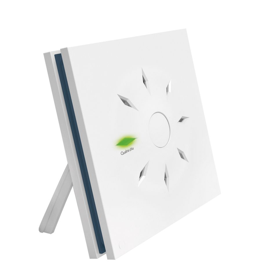 Carbon_SI420EOS Capteur de CO2 radio EnOcean avec LED, pour montage mural ou support mobile