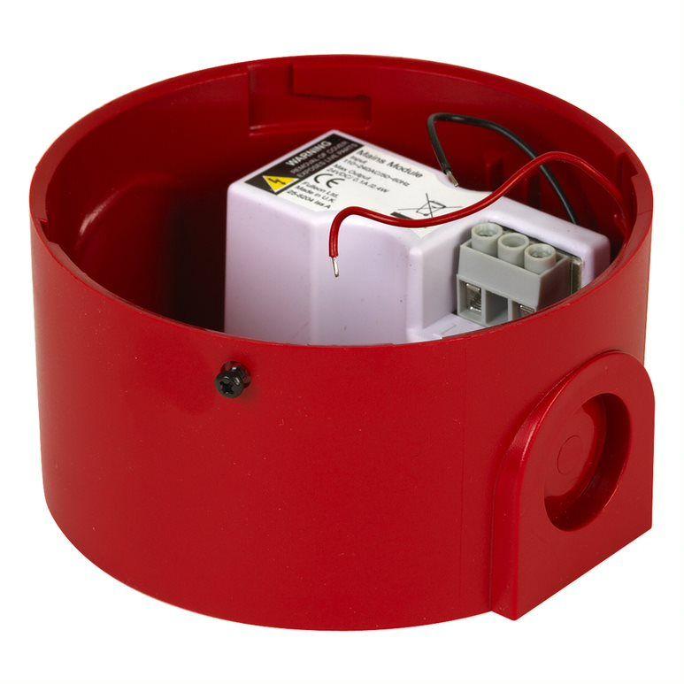 CA-SOCK-H-R-230V Socle de couleur rouge pour avertisseur sonore et/ou lumineux