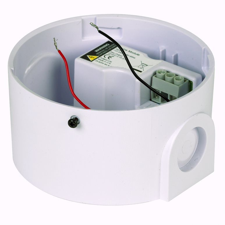 CA-SOCK-H-V-230V Socle de couleur blanche pour avertisseur sonore et/ou lumineux