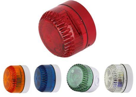 CA-SOLEX-10-V Avertisseur lumineux, boitier blanc, voyant fixe couleur transparent