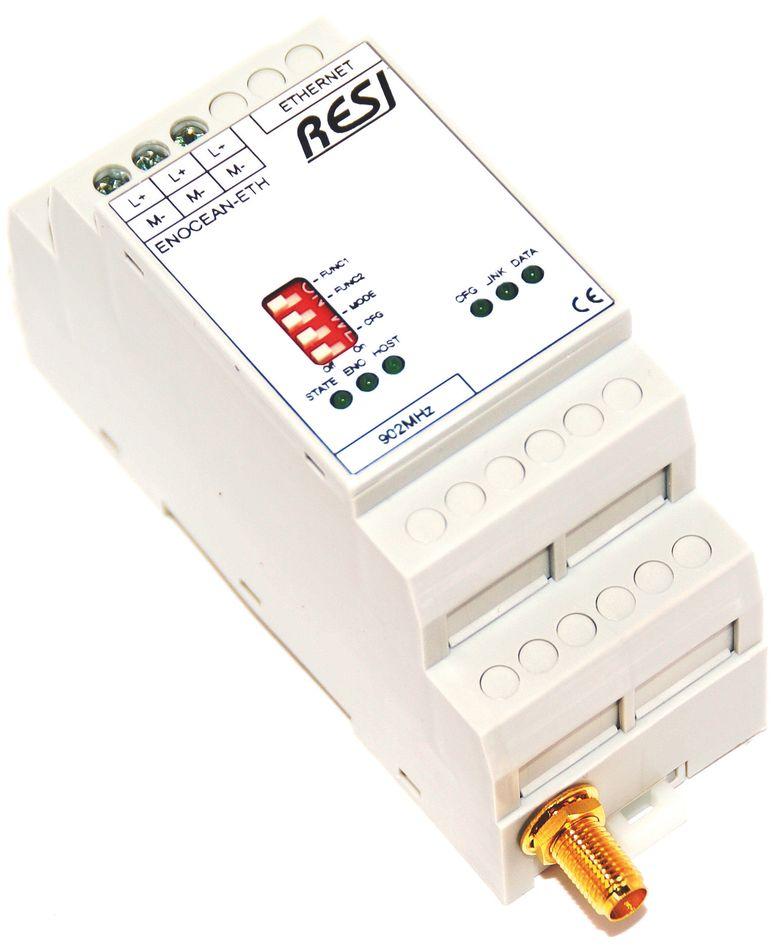 ENOCEAN-ETH Passerelle bidirectionnelle radio EnOcean vers Modbus TCP/IP (Ethernet)
