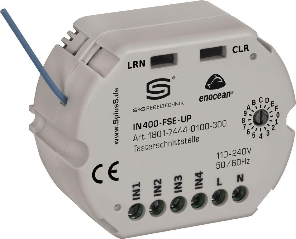 IN400-FSE-UP Interface de bouton-poussoir pour montage encastré