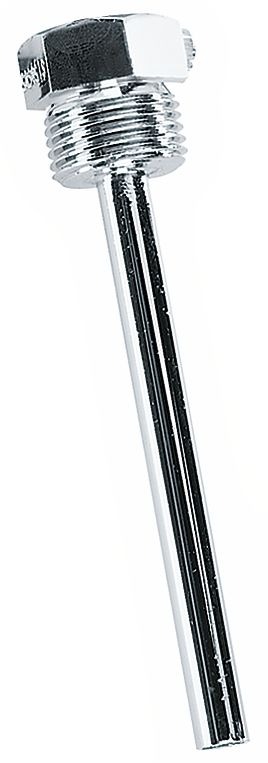 TH-08-ms Doigt de gant à visser en laiton nickelé pour sondes plongeantes
