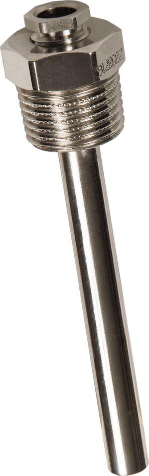 THE-ms Doigt de gant à visser en laiton nickelé avec mini presse étoupe pour sondes à câble