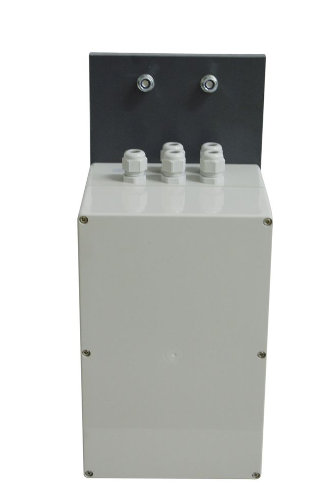 RB-EQUIPEMENT-2 Coffret IP65 avec support pour fixation en pied de mât d'une station météo