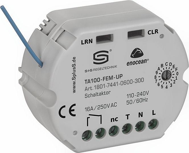 TA100-FEM-UP Récepteur radio EnOcean, actionneur de thermostat à 1 canal