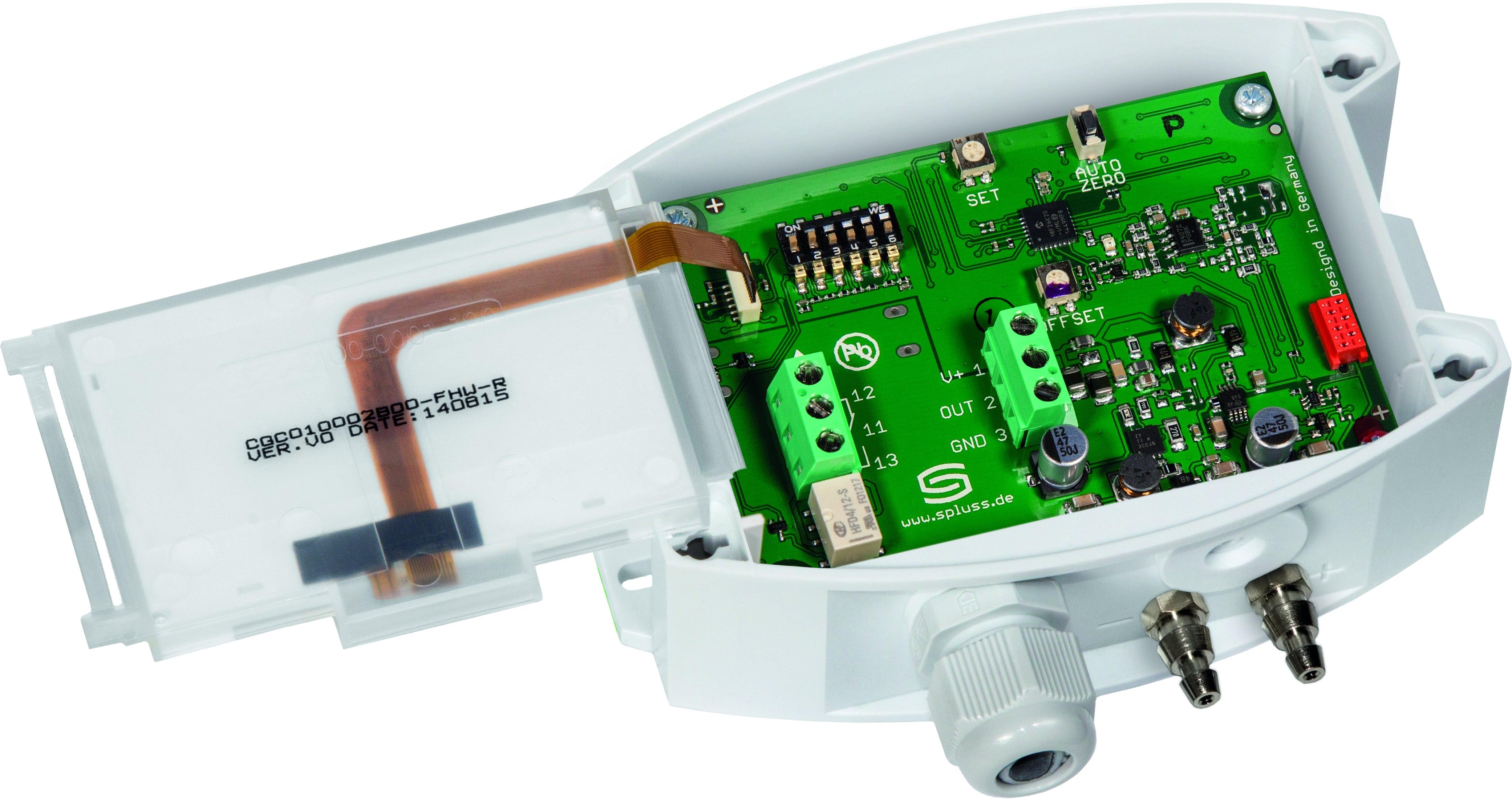 capteur sonde de pression diff rentielle d 39 air avec afficheur sortie analogique 1 x 0 10v et. Black Bedroom Furniture Sets. Home Design Ideas